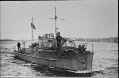 """Nežinomas autorius. Pasienio policijos motorlaivis """"Partizanas"""". 1933"""