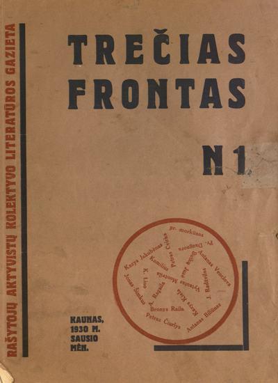 Trečias frontas / redakcinė kolegija: B. Raila … [et al.]. - 1930-1931