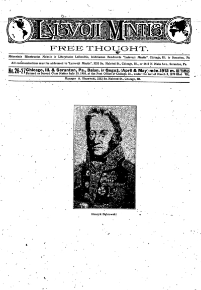 Laisvoji mintis / redaktorius K. Račkauskas. - 1910-1915
