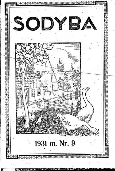Sodyba / redaktorius J. Strazdas. - 1928-1931