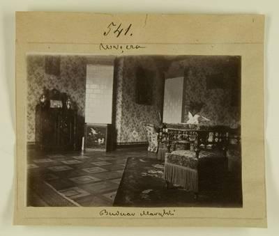 Kosakovskių šeimos archyvas. 7 : Ikonografija. - 1790-[1919]. 1506 : [Marija Kosakovskytė ir Vladimiras Chrapovickiai su svečiais rūmuose Vrenčoje. Rūmų interjero nuotraukos]. - 189-