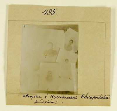 Kosakovskių šeimos archyvas. 7 : Ikonografija. - 1790-[1919]. 1507 : [Marijos Kosakovskytės Chrapovickienės ir vaikų nuotraukos]. - 189-