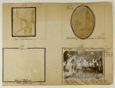 Kosakovskių šeimos archyvas. 7 : Ikonografija. - 1790-[1919]. 1735 : [Įvairių nuotraukų, priklijuotų ant vieno lapo rinkinys]. - 189-