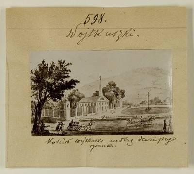 Kosakovskių šeimos archyvas. 7 : Ikonografija. - 1790-[1919]. 1738 : [Vaitkuškio bažnyčios 18 a.? piešinio nuotrauka]. - 189-