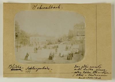 Kosakovskių šeimos archyvas. 7 : Ikonografija. - 1790-[1919]. 1765 : [Švalbacho (Schwalbach) miesto aikštės 18 a. graviūros nuotrauka] / fotogr. Stanislovas Kazimieras Kosakovskis. - 189-
