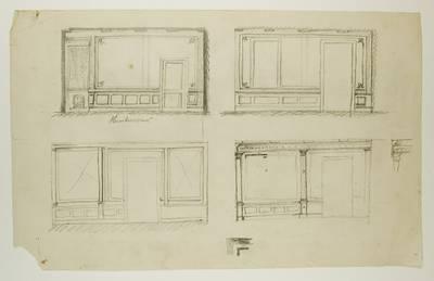 Kosakovskių šeimos archyvas. 7 : Ikonografija. - 1790-[1919]. 1777 : [Neišaiškintų gyvenamųjų ir kt. pastatų planai, detalių piešiniai bei brėžiniai]. - 1885.III.16