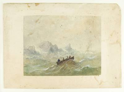 Kosakovskių šeimos archyvas. 7 : Ikonografija. - 1790-[1919]. 1772 : [Valtis audringoje jūroje. Neišaiškinto autoriaus akvarelė]. - 18--