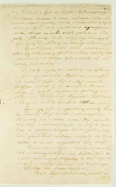 Kosakovskių šeimos archyvas. 9 : Archivalia. - 1698-1919. 1926 : [Kunigo Rapolo Skolimovskio biografija ir kalba, pasakyta kunigo laidotuvėse]. - po 1848