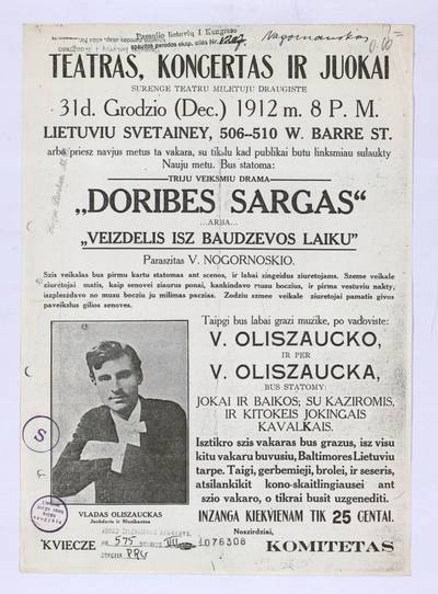 Teatras, koncertas ir juokai. - 1912
