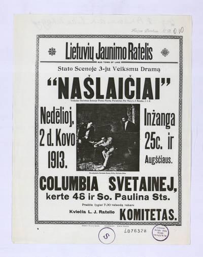 Lietuvių jaunimo ratelis nuo Town of Lake stato scenoje 3-ju veiksmu dramą