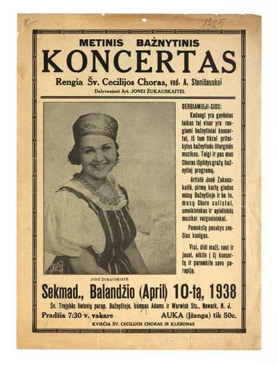 Metinis bažnytinis koncertas. - 1938