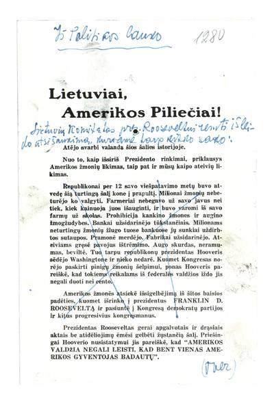 Lietuviai, Amerikos piliečiai!