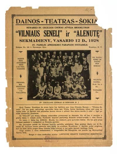 Dainos – teatras – šokiai! Newarko Šv. Cecilijos choras atveža Brooklynan