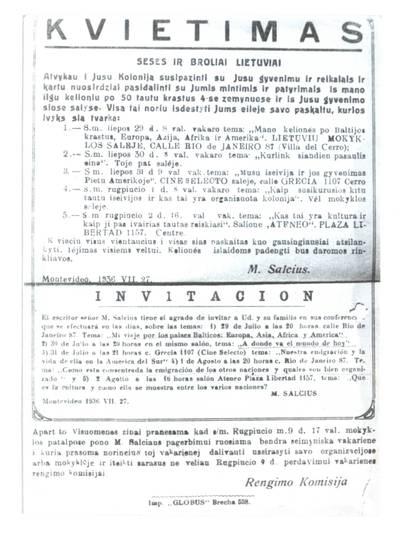 Seses ir broliai lietuviai. - 1936