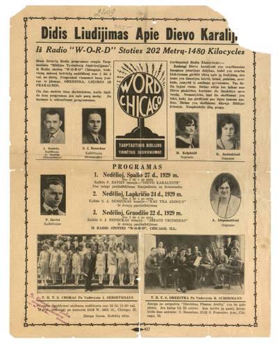 Didis liudijimas apie Dievo karalija. - 1929