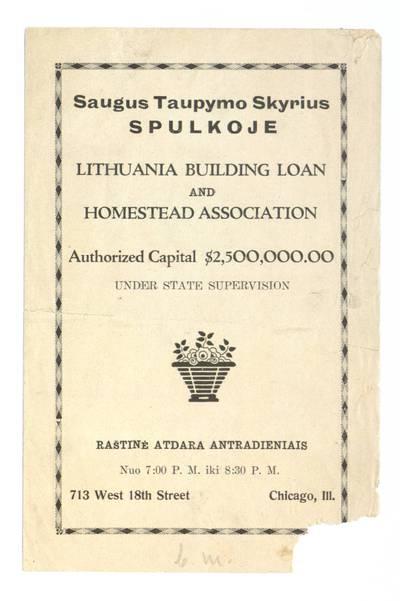 Saugus taupymo skyrius spulkoje. - 1937