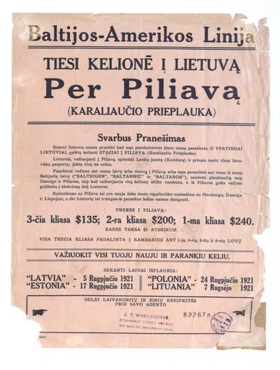 Baltijos-Amerikos linija.