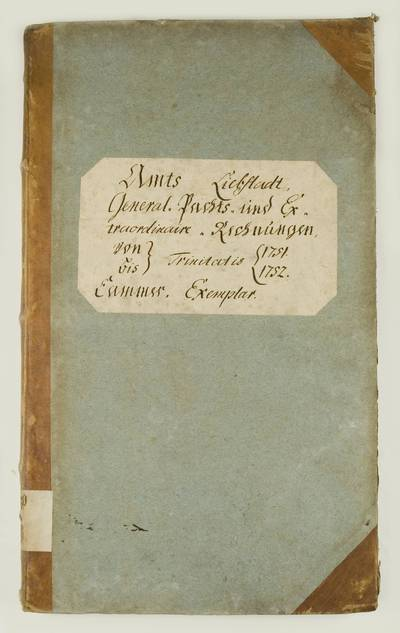 Mažosios Lietuvos istoriniai aktai. I : Karališkųjų valdų metinių pajamų-išlaidų apskaitos knygos. – 1751-1816. 213 : Amts Liebstadt General Pachts und Extraordinaire Rechnungen von-bis Trinitatis 1751-1752. - 1751-1752