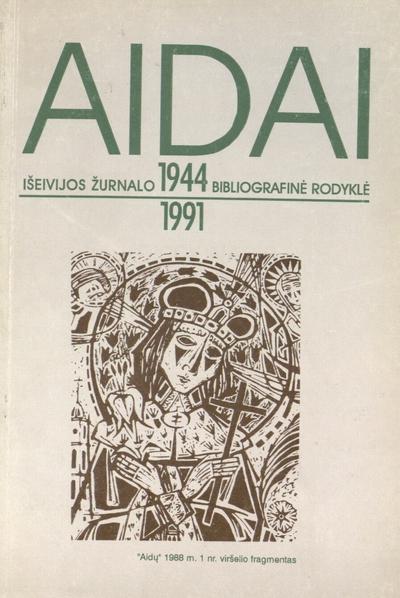 Aidai / Lietuvos [Respublikos] kultūros m-ja, Lietuvos nac. M. Mažvydo b-ka. - 1996