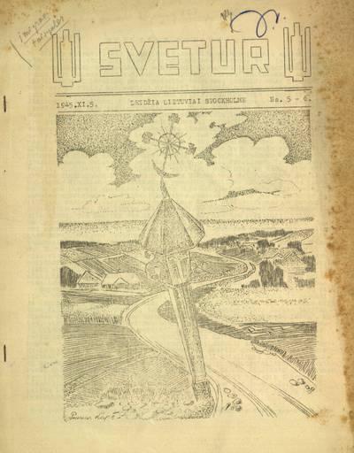 Svetur / redaguoja Jurgis Savaitis. - 1945-1946