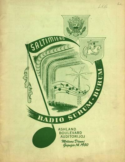 Šaltimiero radio Šurum Burum Ashland Boulevard auditorijoj ... - 1939-1944; 1950