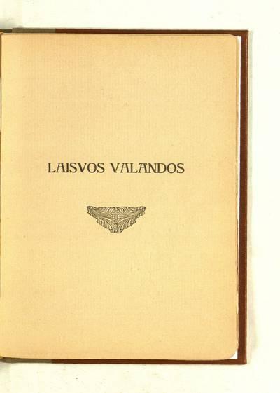 Vinco Kudirkos raštai. T. 1: Biografija, satyros, eilės : Laisvos valandos