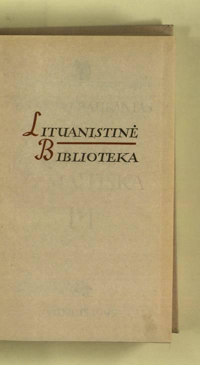 Istorija Žemaitiška. [T.] 1 / [įžangos straipsnį parašė Vytautas Merkys]. - 1995