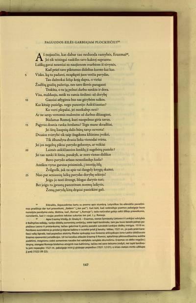Raštai : Paguodos eilės garbiajam Plockiečiui / Mikalojus Husovianas