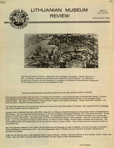 Museum review / Balzekas Museum of Lithuanian Culture. - 1966-1975