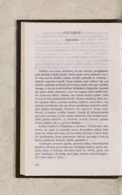 Raštai. T. 1: Beletristika, dramaturgija, atsiminimai ir publicistika : Atgajėlė / Liudvika Didžiulienė-Žmona