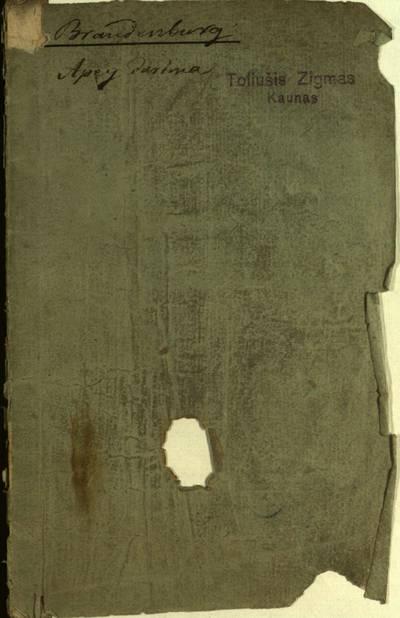 Apey darima walge ysz kiarpiu islandu / pagal datiryma Teodora Brandenburga aptiekoriaus Mohilawe ant upes Dniêpra drauga daugiel draugiszcziu môkitu. - 1823