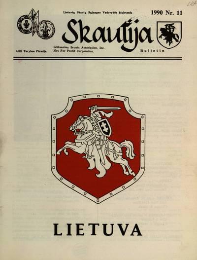 """Skautija / redakcija: """"Skautija"""" ir """"Skautybė"""" v.s. Antanas K. Saulaitis, """"Gabija"""" sl. Rima Gudaitienė, """"Krivulė"""" s. Česlovas Kiliulis. - 1970-1972, 1985-1993"""