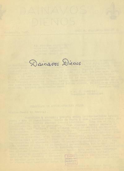 Dainavos dienos / redaktorius R. Kezys. - 1955-1955