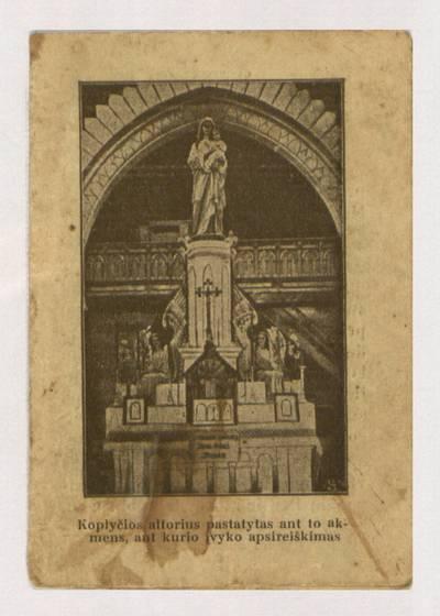Paveikslas Švenčiausios P. Marijos stebūklais garsus Šilavoje, Žemaičiuose. - 1930
