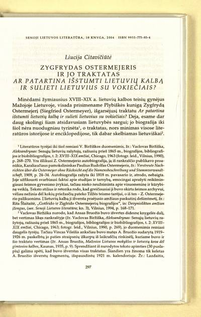 Istorijos rašymo horizontai : Zygfrydas Ostermejeris ir jo traktatas