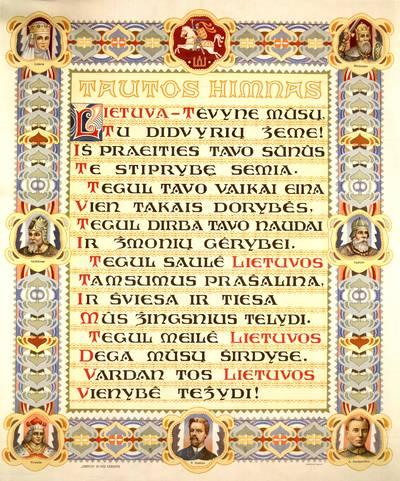 Tautos himnas / [Vincas Kudirka]. - apie 1920