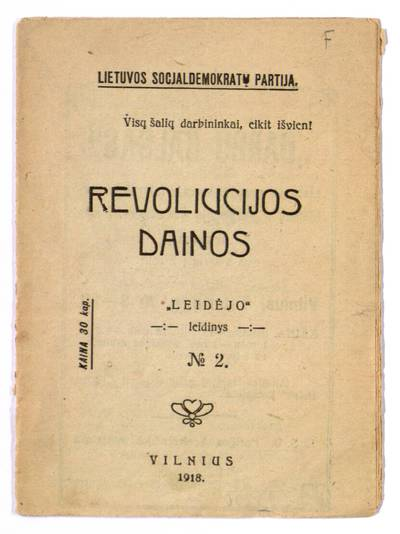 Revoliucijos dainos / Lietuvos socjaldemokratų partija. - 1918