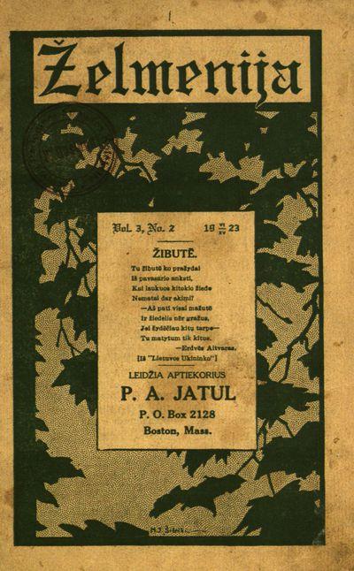 Želmenija. - 1921-1923