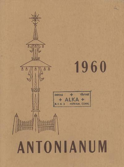 Antonianum. 1960 / edited by the Senior Class of Saint Anthony's High School. - 1960