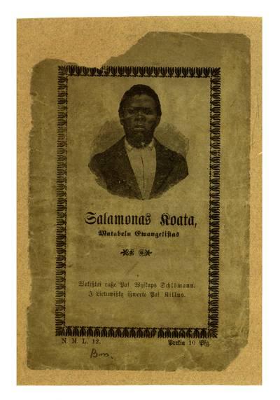 Salamonas Koata matabelu ewangelistas / wokiszkai rasze pas. wyskups Schlömann. - 1914