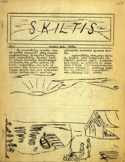 Skiltis / redaguoja G. Plačas. - 1966-1987