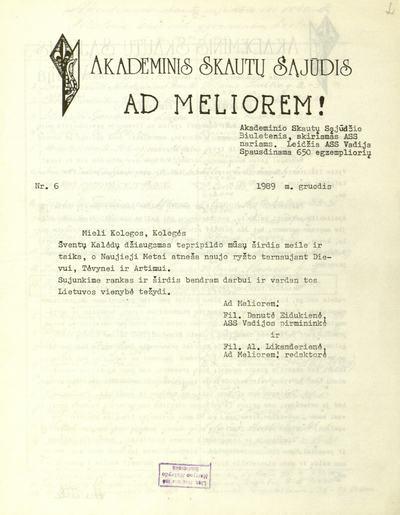 Ad Meliorem! - 1952-1998