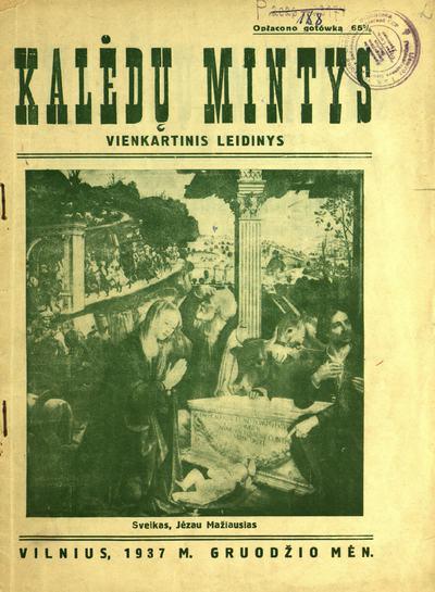 Kalėdų mintys / redaktorius ir leidėjas Liudas Činčikas. - 1937