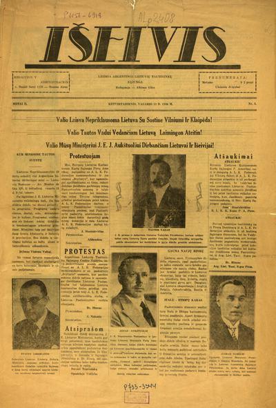 Išeivis / redakcijos reikalus veda Pranciškus Dambravas. - 1935-1936