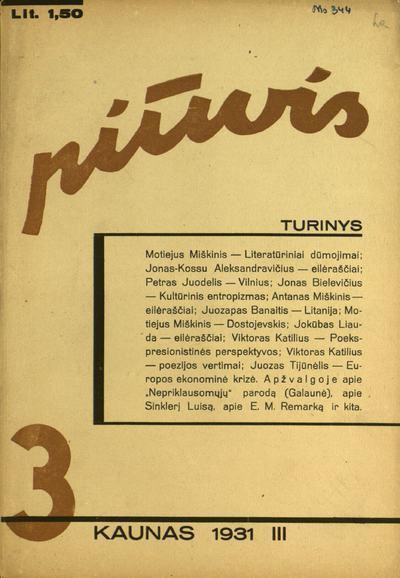 Piūvis / red.-leid. Petras Juodelis. - 1929-1931