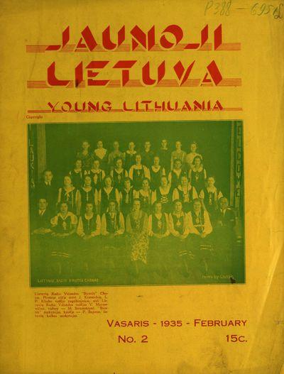 Jaunoji Lietuva / redaktorius P. Incognito. - 1935