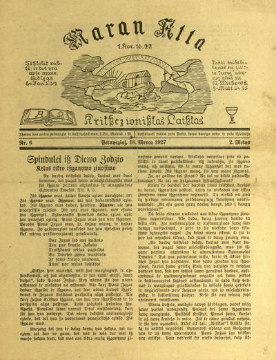 Maran Atta / už rėdyste atsako leidejis Martynas Šernius (M. Schernus). - [1925]-1928