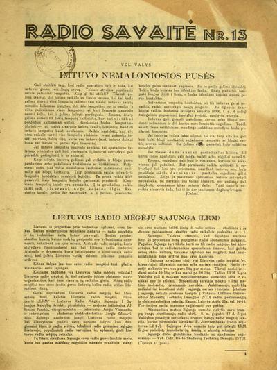 Radio savaitė. - 1934-1936