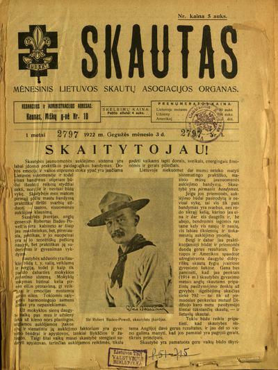 Skautas / [red.] K. Jurgelevičius. - 1922-1923