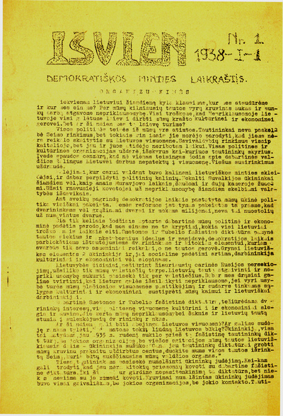 Išvien / redaguoja redakcinė komisija. - 1938-1939